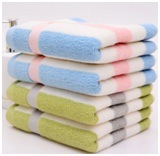 Striped Thicken Sports Towel 32 Jacquard Towel for Couples pictures & photos