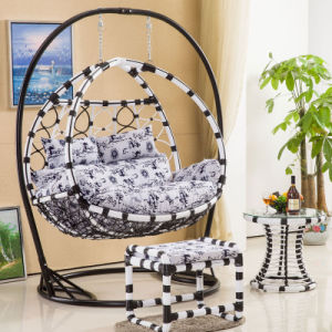2017 New Double Swing Swing Rattan Furniture Rattan Basket Garden Furniture (D156) pictures & photos