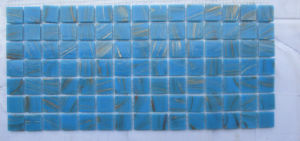Blue Pool Glass Mosaic pictures & photos