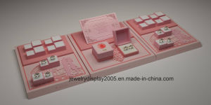 Luxury Jewelry Display Brand Pink Microfiber Display for Jewelry Set pictures & photos