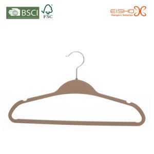 Gray Superb Velvet Clothes Hanger (RP01) pictures & photos
