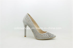 Elegant Hand-Made Sexy High Heels Leather Women Shoes pictures & photos