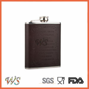 DSC_0019 Hot Stainless Steel Hip Flask/6oz Liquor Hip Flask Wrap pictures & photos
