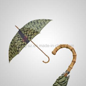 Bamboo Handle Straight Manual Rain/Sun Luxury Umbrella Carbon Rib (JL-MQT138) pictures & photos
