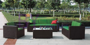 Fashion Garen Furniture PE Rattan Sofa pictures & photos