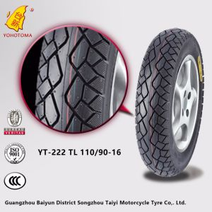 High Rubber Content Motorcycle Tire Tl 110/90-16 pictures & photos