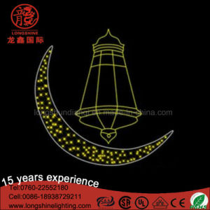 LED Ramadan Star Moon Shaped Street Lights for Eid Festival pictures & photos