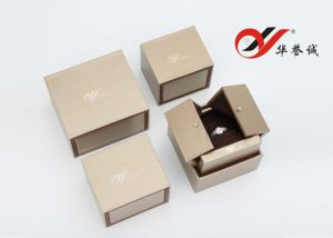 Drawbench Style Gold Color Fashion Plastic Ring Box pictures & photos