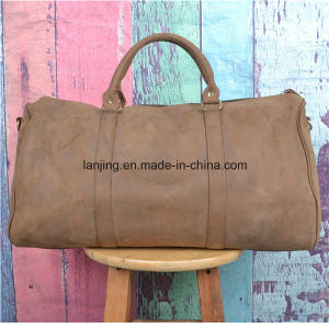 Crzay Horse Cowhide Vintage Weekend Overnight Luggage Travel Duffle Bag pictures & photos