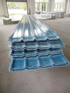FRP Panel Corrugated Fiberglass/Fiber Glass Color Roofing Panels W172004 pictures & photos