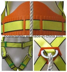 China High Qaulity Safety Belt Construction Safety Harness with Lanyard pictures & photos