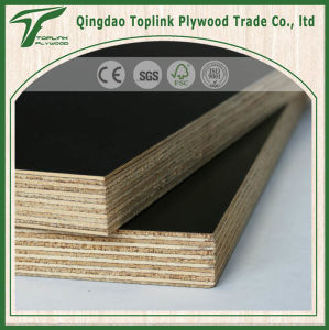 Film Faced Plywood Board for Construction, Poplar Core, Brown Black Film, WBP Glue pictures & photos