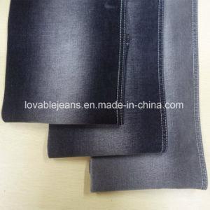 10 Oz Black Denim Fabric (T115) pictures & photos