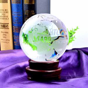 200mm Crystal Glass World Ball Earth Globe for Gift pictures & photos