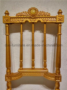 Royal Style Leather Seating Gold Wholesale Used Hotel Banquet Chairs pictures & photos