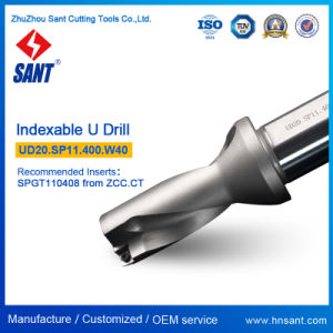 CNC Indexable Drilling Tools U Drill Model Ud20. Sp11.340. W32 From Zhuzhou Sant with Carbide Insert Spgt110408 or Spmg110408 pictures & photos