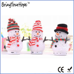 PVC Material Snowman Shape Christmas Bluetooth Mini Speaker (XH-PS-662) pictures & photos