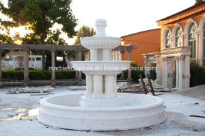 White Antique Marble Stone Sculpture Fountain (SY-F112) pictures & photos