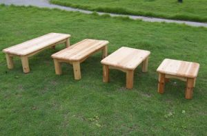 Natural Cedar Garden Furniture Outdoor Simple Chair pictures & photos