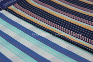 Yarn Dyed Cotton Spandex Satin Fabric for Chino pictures & photos