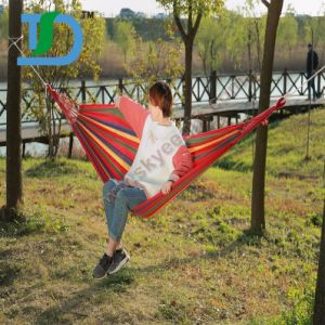 High-Quality Colorful Fabric for Custom Hammock with Woodern Strips pictures & photos