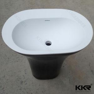 Bathroom Furniture Stone Freestanding Wash Basin 0713 pictures & photos