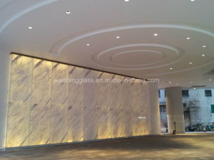12mm or 15mm Low Iron Tempered Glass with 4mm Marble Laminated Glass for Elevator Hall pictures & photos