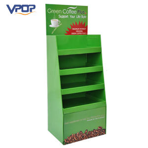 Green Color Cardboard Display Stand for Coffee Display Ideas pictures & photos