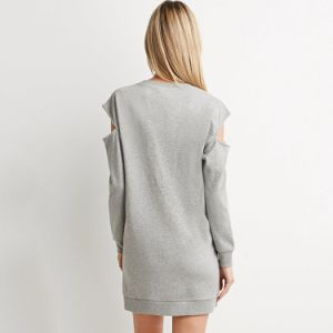 Leisure Long Sleeve Cotton Women Shirt Dress pictures & photos