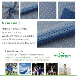 100%Polyester Football Mesh for Sportwear Fabric pictures & photos