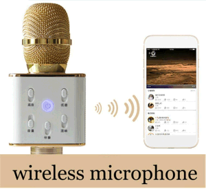 Factory Price Q7 Handheld Wireless Bluetooth Speaker Stereo Karaoke Microphone pictures & photos