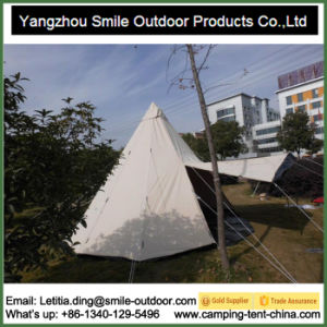 Windproof Family Large Camp Teepee Event Cotton Canvas Tent pictures & photos