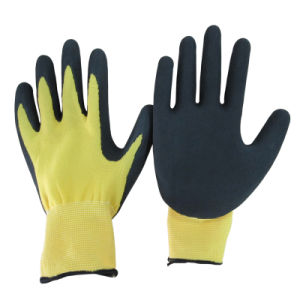 Back Sandy Nitrile Coating Work Glove China pictures & photos