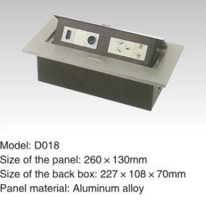 260*130mm 250V/10A Aluminum Alloy Desk Power Socket pictures & photos