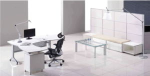 New Design L Shape Melamine Manager Office Desk pictures & photos