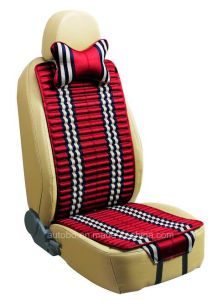 Checked Linen and Velvet Car Seat Cover Double Sides Use-Red pictures & photos