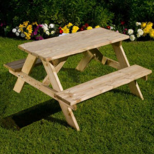 Outdoor Furniture Wooden Garden Table Picnic Table Sets for Children pictures & photos