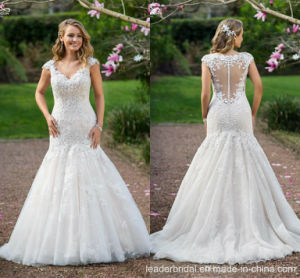 Mermaid Wedding Gown Cap Sleeves Lace Mermaid Bridal Wedding Dress L16317 pictures & photos