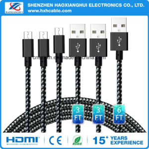 Nylon Braiding 1m2m3m Android Micro USB Cable for Samsung Mobile Phone pictures & photos