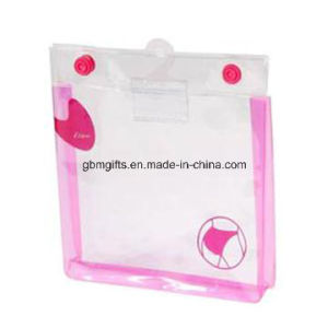 Transparent PVC Bag with Organza Top, Ideal for Holding Cosmetics, Available in Various Colors pictures & photos
