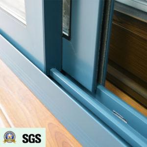 Australia Style Powder Coated Aluminum Sliding Window K01058 pictures & photos