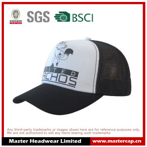 100% Polyester Curved Brim Mesh Back Trucker Cap with Printing pictures & photos