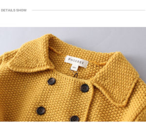 Wool Baby Girl Clothes Girls Winter Coat for Sale pictures & photos