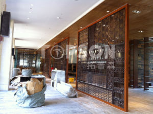Decorative Stainless Steel Metal Folding Screen Room Divider Partition Wall pictures & photos