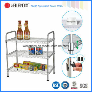 Multi-Functional Chrome Metal Wire Kitchen Shelf Rack with NSF Approval pictures & photos