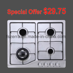 Four Burners Gas Hob with Stainless Steel Panel S4506A pictures & photos
