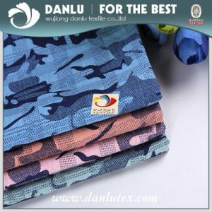100%Cotton Poplin with Camouflage Jacquard Fabric for Shirt pictures & photos