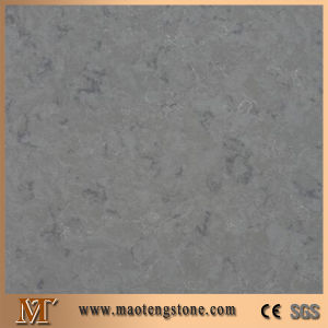 French Grey Artificial Stone Tiles and Slabs Custom Polishing Quartz Stone pictures & photos
