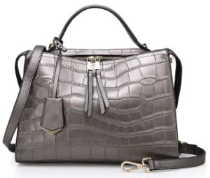 New Designed Factory OEM Lady PU Leather Tote Woman Fashion Handbag (ZX10289) pictures & photos