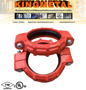 """FM UL Approved 2"""" Fire Fighting Grooved Fitting Flexible Grooved Coupling pictures & photos"""